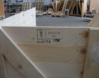 Imballaggio in legno con capacità continuativa certificato FITOK