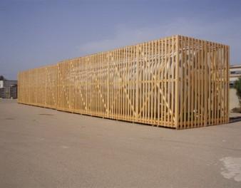 Serbatoio in vetroresina completamente imballato con il legno per il trasporto