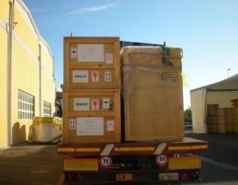 Imballaggi industriali in legno di medie dimensioni